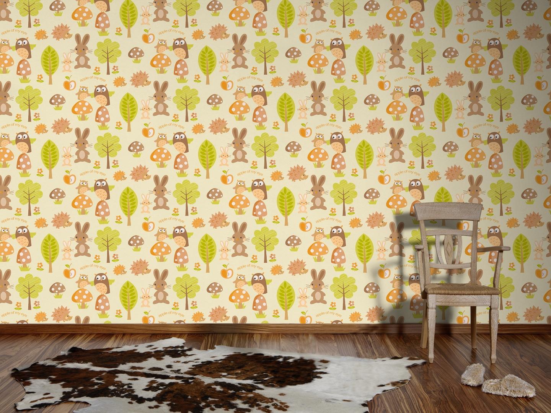 A.S. Création Tapete Boys & Girls 5 Papiertapete Kindertapete 10,05 m x 0,53 m braun bunt grün