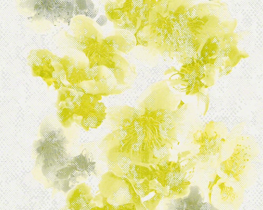 Livingwalls Vliestapete METROPOLIS by Michalsky Living, Mustertapete Honolulu, floral, aquarelle, grün, weiß