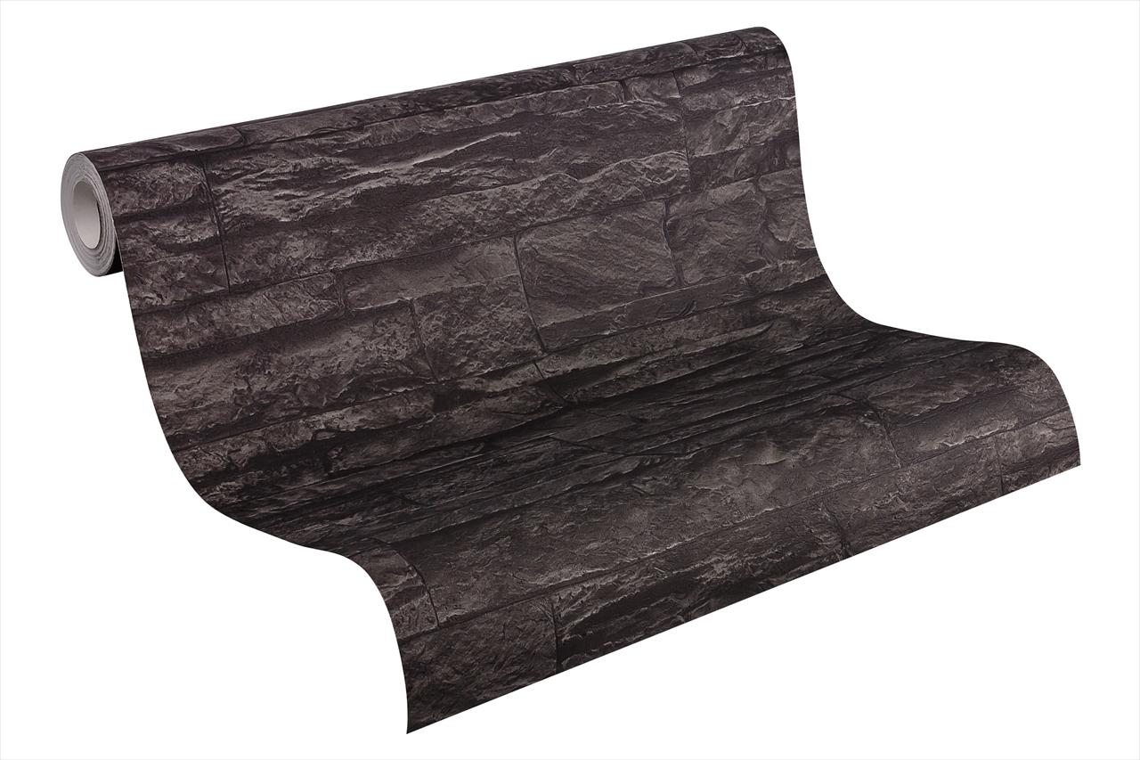 A.S Creation Wood`n Stone Bruchsteinoptik, schwarz, grau