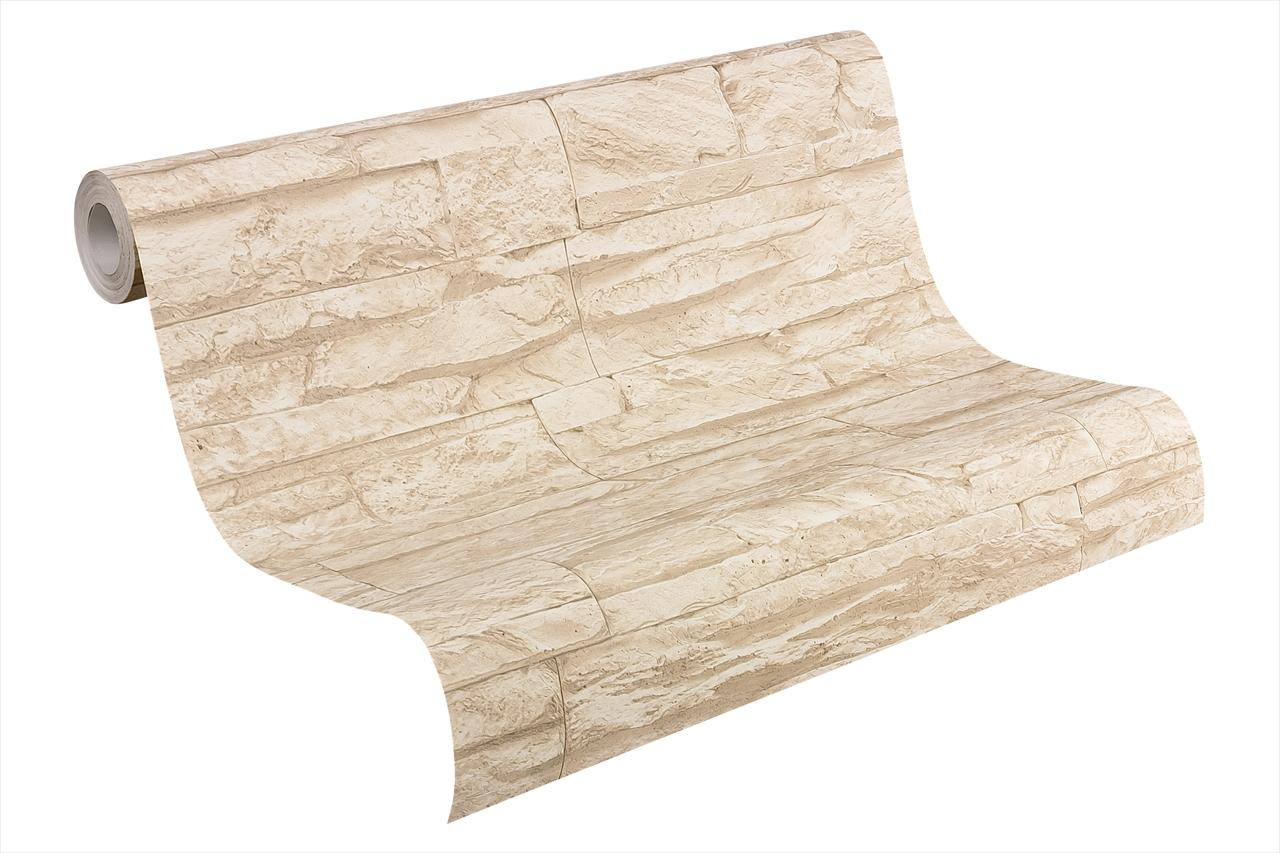 A.S Creation Vliestapete Wood`n Stone Bruchsteinoptik, beige
